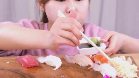 美食吃播, 韩国美女吃好吃, 看得人食指大动