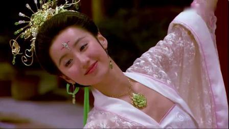 美女的舞姿太优美宛若嫦娥仙子,连宫女都被吸