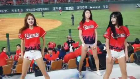 啦啦队美女跳的这么嗨,棒球估计没人看了