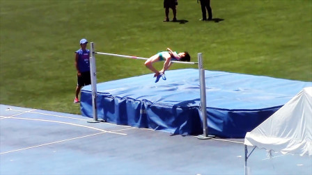 日本女子跳高决赛,落地的刹那间观众石化了,