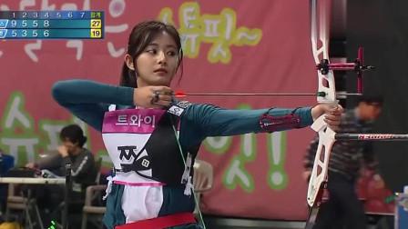 画面太美,拼技术更拼颜值的韩国射箭女运动员