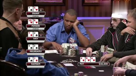 德州扑克:Ivey拿着27杂色本想娱乐一下,万万没