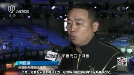 刘国梁:世乒赛包揽五金挑战大 东京奥运保三争