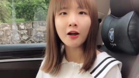 钟婷搞笑视频:弟弟和姐姐说,把车窗摇下来