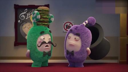 搞笑动画:萌宝为了带食物去电影院可是费劲了