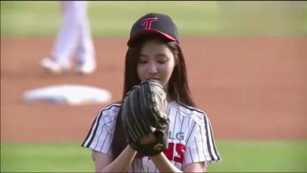 韩国棒球美女,真是不光实力强,人长得还那么