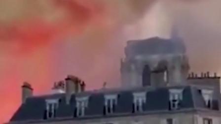 """巴黎圣母院火灾事件,眼尖女子发现""""耶稣""""神像网友太明显了"""
