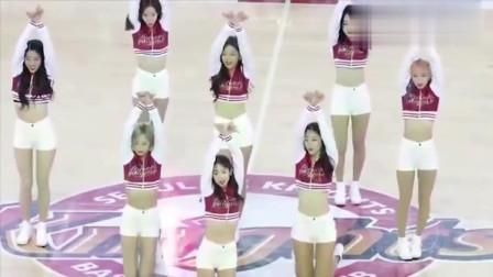 篮球宝贝热舞,不愧是韩国美女,个个颜值在线
