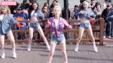 韩国美女艺人Soya助力女团ALiEN,歌舞活力四射引
