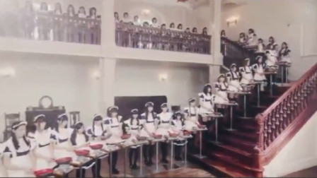 创意广告:日本又一奇葩广告,100名女仆传递煎