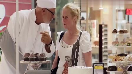 国外恶搞:大叔让路人帮忙点蛋糕蜡烛,不料蜡