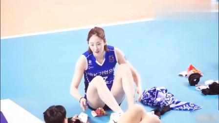 爱运动的女孩最美!现场实拍韩国女排第一美女