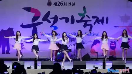 韩国美女演出饭拍,成员们长得都好甜啊,跳舞