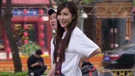 杭州街拍:偶遇身材完美的小姐姐,笑起来真好