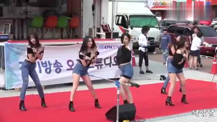 韩国女团热舞:这身材搭配了牛仔热裤,绝了!
