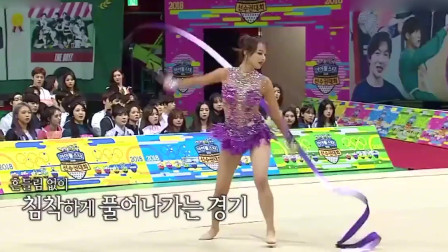 女子花样体操表演:韩国女运动员动作好美,很