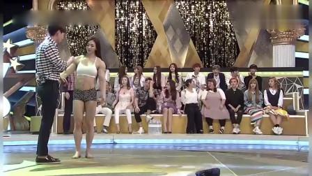 某综艺节目清纯脸庞美女,没想到却是金刚芭比