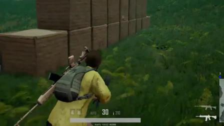 绝地求生:落地刚捡到枪,键盘却坏了!这玩家