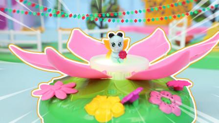 蝴蝶小精灵莲花发光音乐玩具分享
