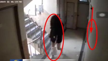 韩国醉酒女主播遭陌生男子尾随,还在门口蹲守