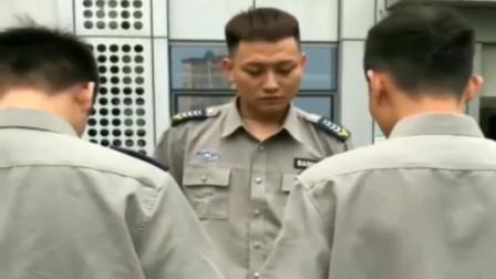 广西老表搞笑视频,保安队长训话,却不料被两