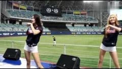 韩国棒球比赛啦啦队应援,都是长腿大美女,我