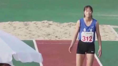 韩国女子跳远比赛,不小心看到美女的一个经典