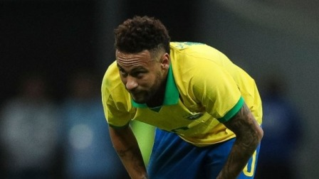 内马尔热身赛中脚踝韧带断裂  将缺席美洲杯