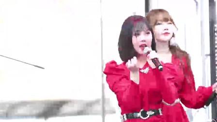 韩国女团,这位美女的脸看着好奇怪啊,不过却