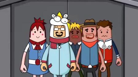 搞笑吃鸡动画:萌妹四人给达达捧哏壮胆,对博