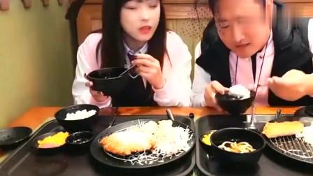 《韩国农村美食》大叔带女朋友吃饭,这狗粮吃