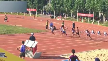 高中体育生,100米决赛第一名仅用10.19,小伙子前