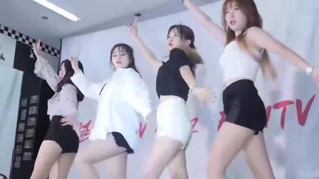 韩国女团美女小姐姐舞蹈室热舞,与火箭少女有