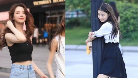 街拍:据说30岁以上的喜欢左边,20岁左右的喜欢右边!你喜欢哪一边?