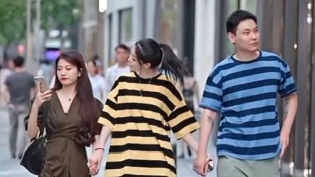 成都街拍瞬间:男朋友和闺蜜之间保持距离到底有多重要