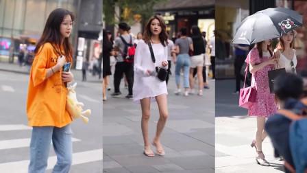 街拍:戴眼镜的小姐姐很有气质,走起路来气势更足,太养眼了!