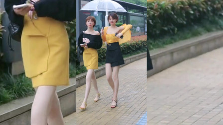 街拍美女:性感和可爱的小姐姐,你想抱哪个回家当女朋友啊