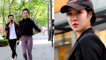 杭州街拍:我这是偶遇到杨紫了吗?这穿着也太大胆了吧!