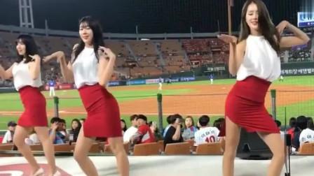 韩国棒球美女啦啦队,开场舞我看了无数遍,这