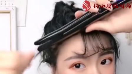 每天带你换发型:适合短发妹子的高马尾,这个心机小技巧学起来