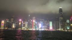 香港维多利亚港音乐灯光秀(2019021601)