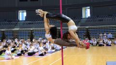 衡阳市千人瑜伽展演暖场秀:DT舞蹈——钢管舞