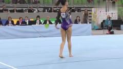 体操美女拉法安,欢快的音乐配上俏皮的舞蹈动