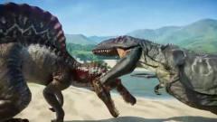 霸王龙在侏罗纪世界被各种惨虐 恐龙动漫特效