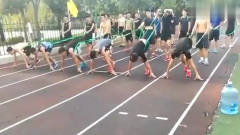 体育小哥练起跑,后面的同学都拽不住了,网友