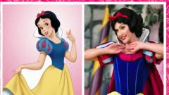 脑洞幽默动画,白雪公主和真人照对比,让我再