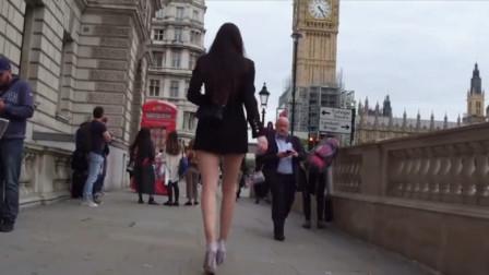 现实版脖子以下全是腿,姑娘腿长132厘米,世界