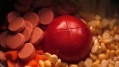 VLOG美食餐记录,今天吃一顿番茄饭