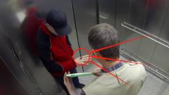 """电梯里掉下巨型""""蜘蛛""""?老外花样恶搞,路人"""