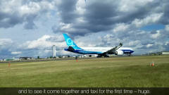 科技与军事:*oeing波音777X__首次跑道滑行测试